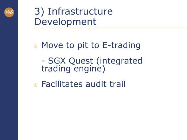 3) Infrastructure Development