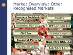 market overview other recognised markets
