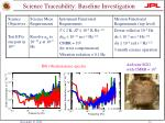 science traceability baseline investigation