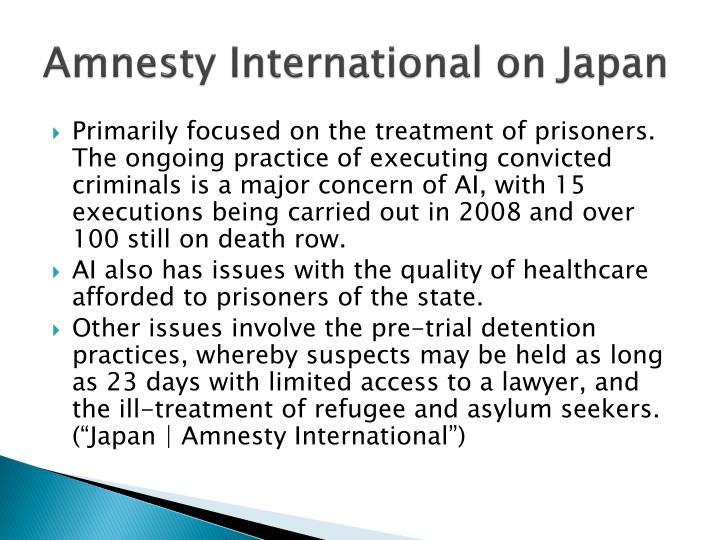 Amnesty International on Japan