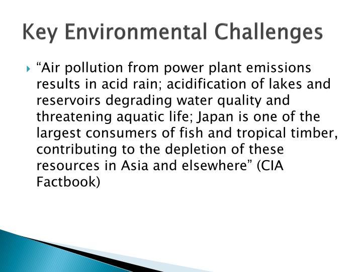 Key Environmental Challenges