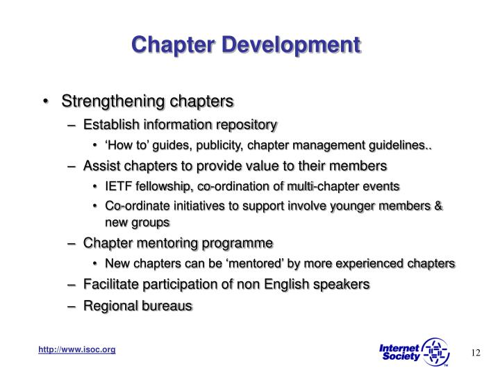Chapter Development