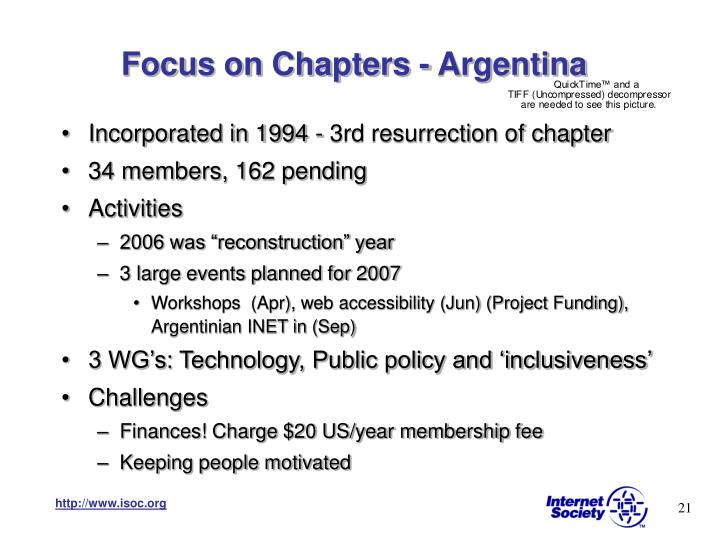 Focus on Chapters - Argentina