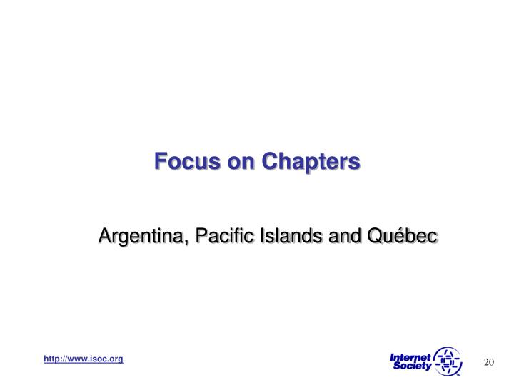 Focus on Chapters
