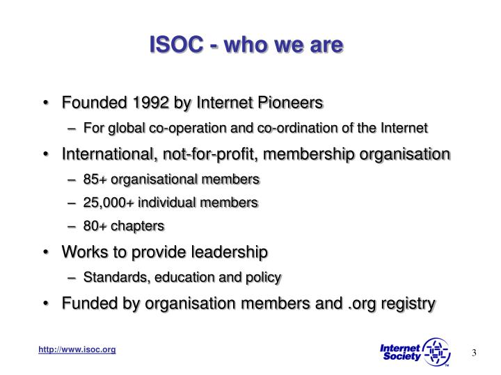 ISOC - who we are