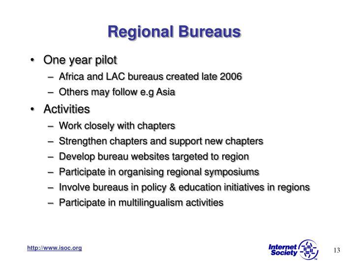 Regional Bureaus