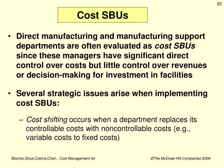 Cost SBUs