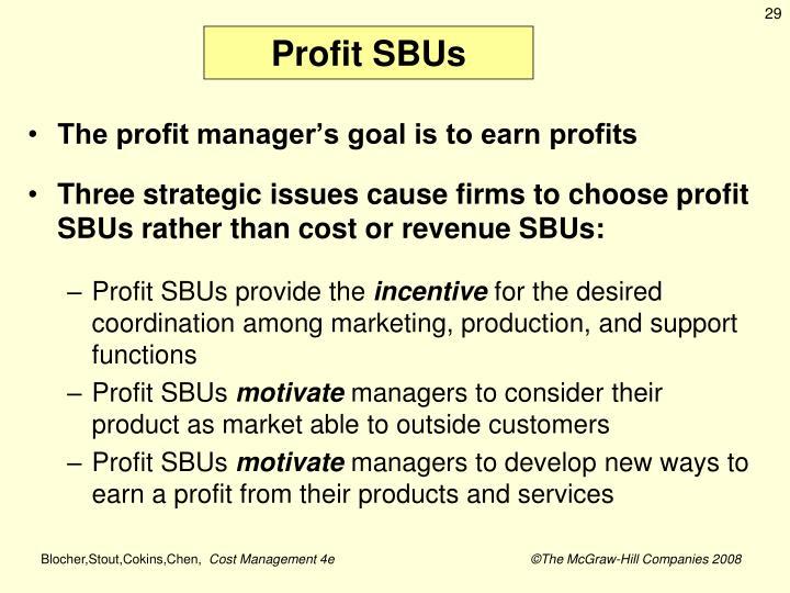 Profit SBUs
