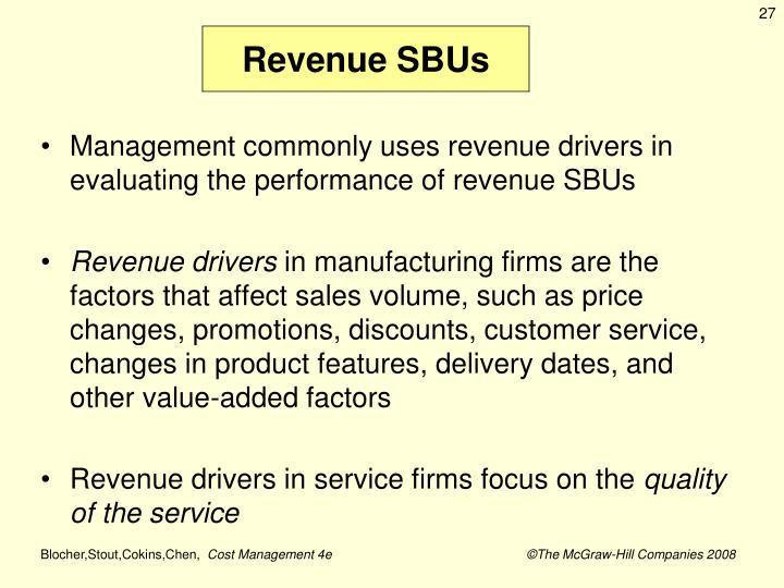 Revenue SBUs