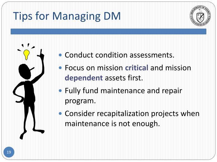 Tips for Managing DM