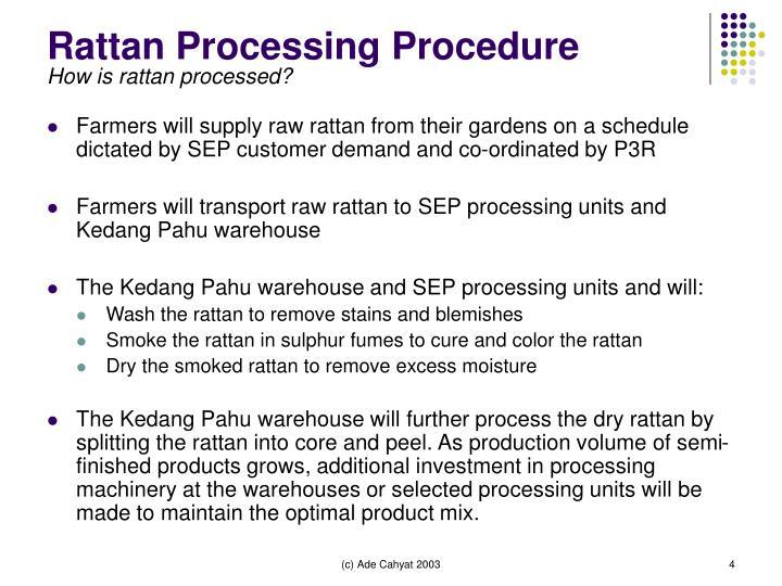 Rattan Processing Procedure