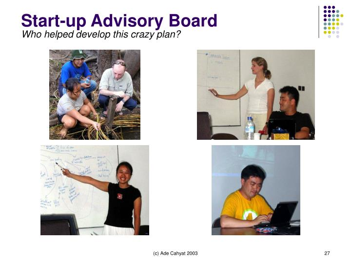 Start-up Advisory Board