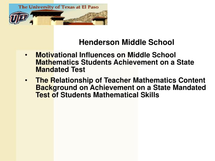 Henderson Middle School