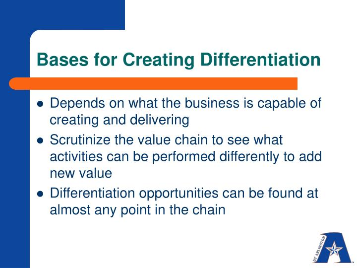 Bases for Creating Differentiation