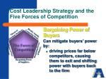 cost leadership strategy and the five forces of competition1