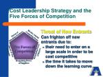 cost leadership strategy and the five forces of competition3