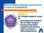 differentiation strategy and the five forces of competition2