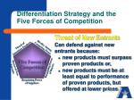differentiation strategy and the five forces of competition3