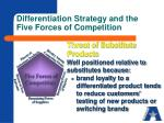 differentiation strategy and the five forces of competition4