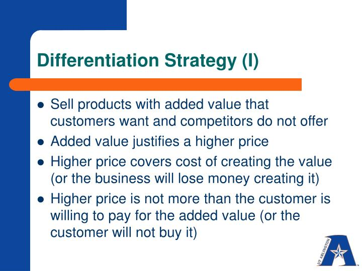 Differentiation Strategy (I)