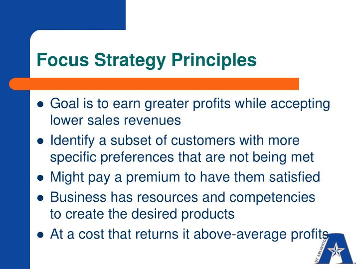 Focus Strategy Principles