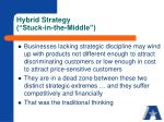 hybrid strategy stuck in the middle