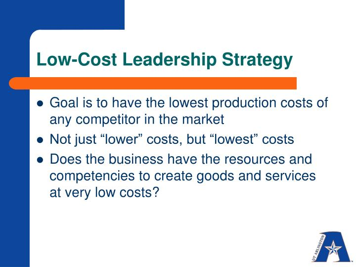 Low-Cost Leadership Strategy