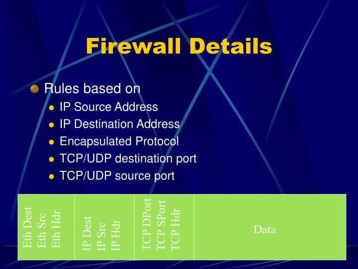 Firewall Details
