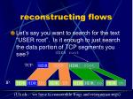 reconstructing flows