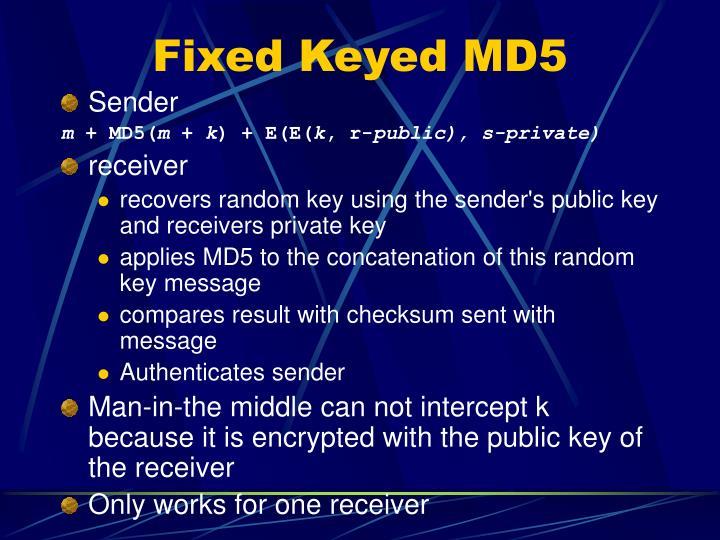 Fixed Keyed MD5