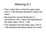 meaning of z