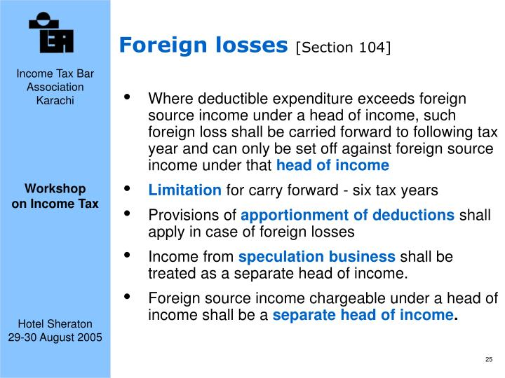 Foreign losses