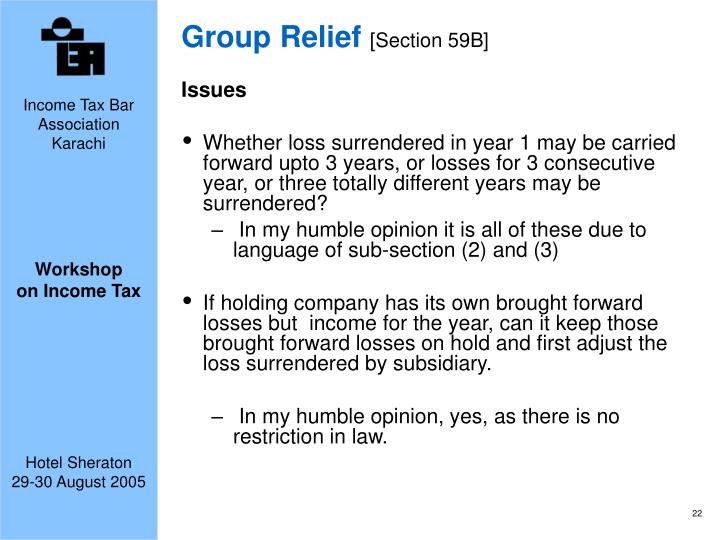 Group Relief
