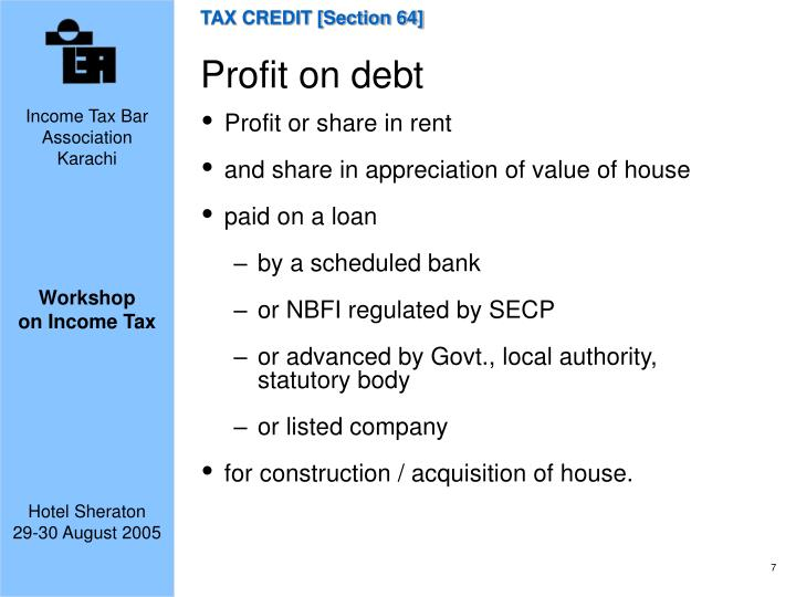 TAX CREDIT [Section 64]