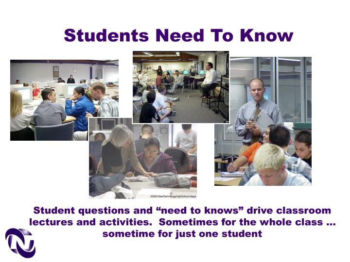 Students Need To Know