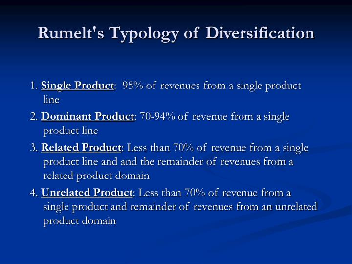 Rumelt's Typology of Diversification