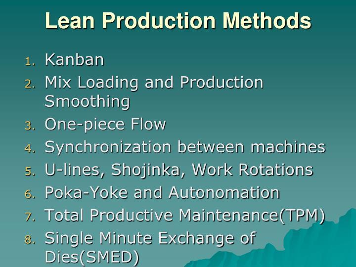 Lean Production Methods