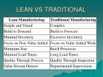 lean vs traditional