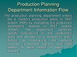 production planning department information flow