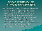 tofas warehouse automation system1