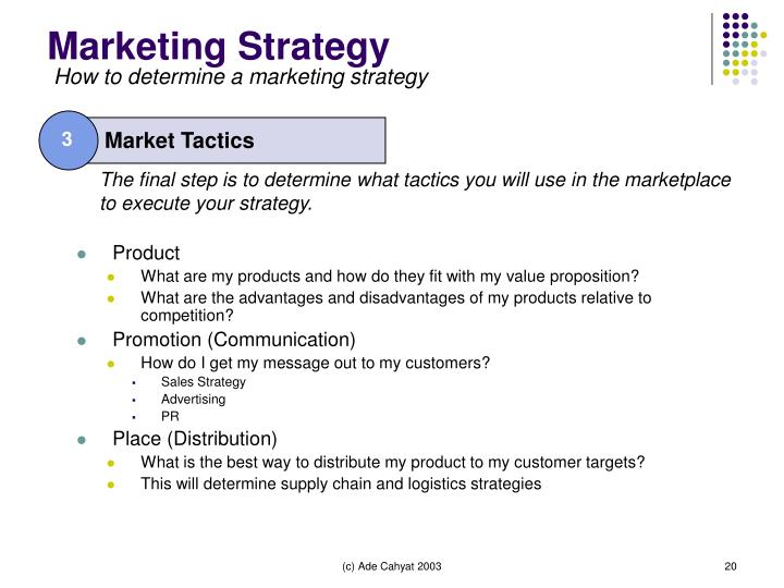 Market Tactics