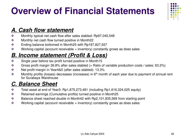 Overview of Financial Statements