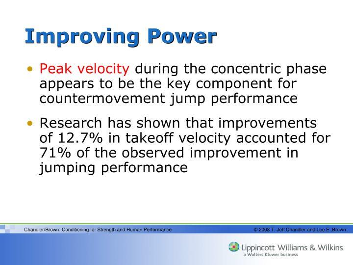 Improving Power
