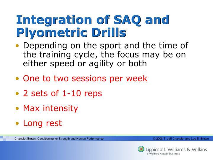Integration of SAQ and Plyometric Drills
