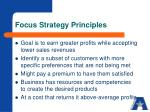 focus strategy principles