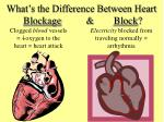 what s the difference between heart blockage block