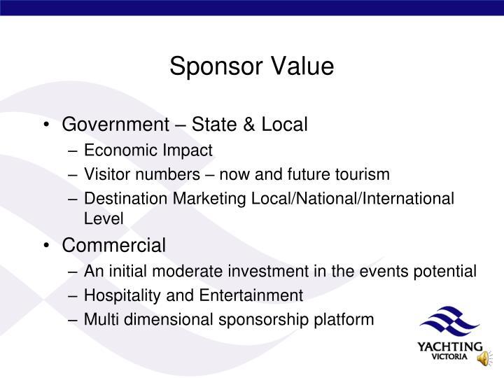 Sponsor Value