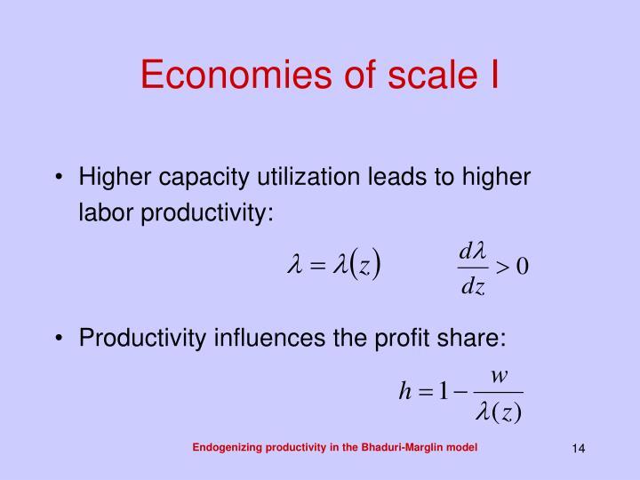 Economies of scale I