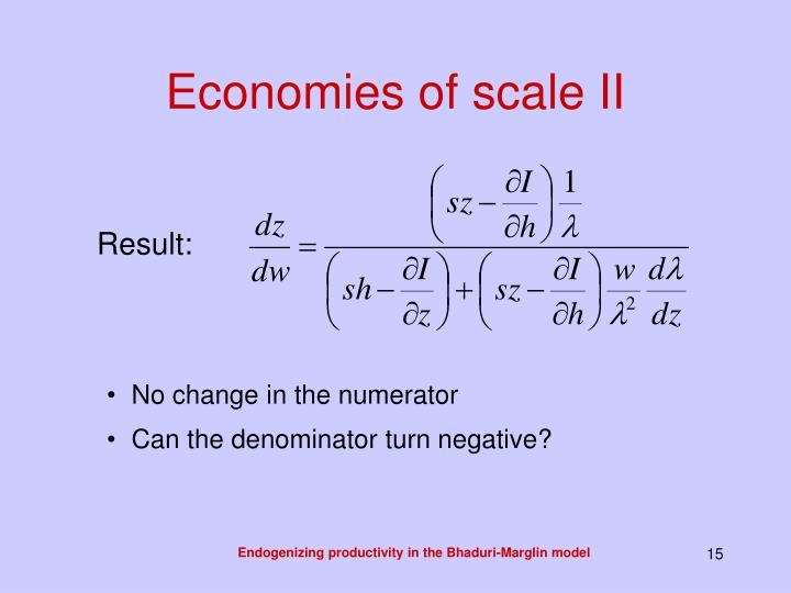 Economies of scale II