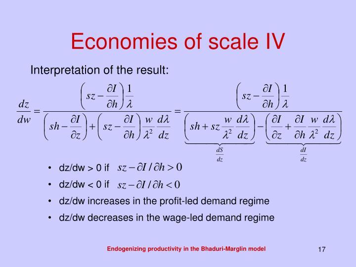 Economies of scale IV